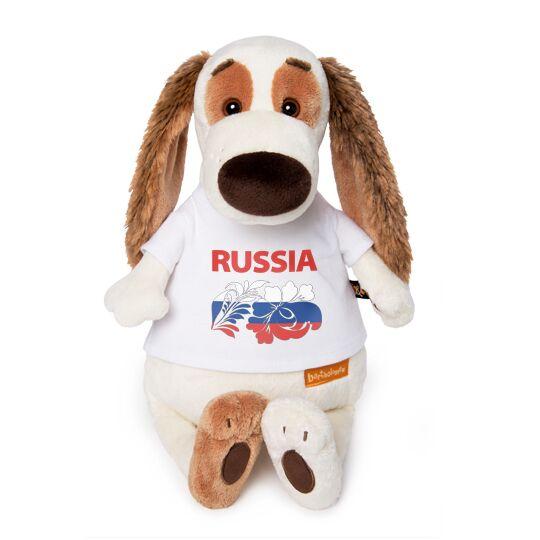 """Бартоломей в футболке с принтом """"Россия"""""""