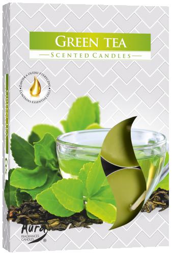 "Арома свечи набор 6шт. ""Зеленый чай"""
