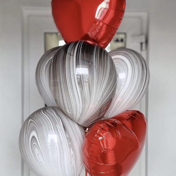 """Сет из шаров """"Red hearts"""""""